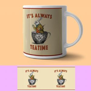 Alice In Wonderland, It's Always Tea Time, Ceramic Mug (og)